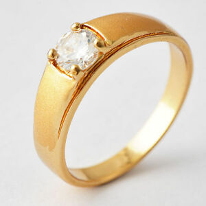 vintage mens jewelry yellow gold filled cubic zirconia