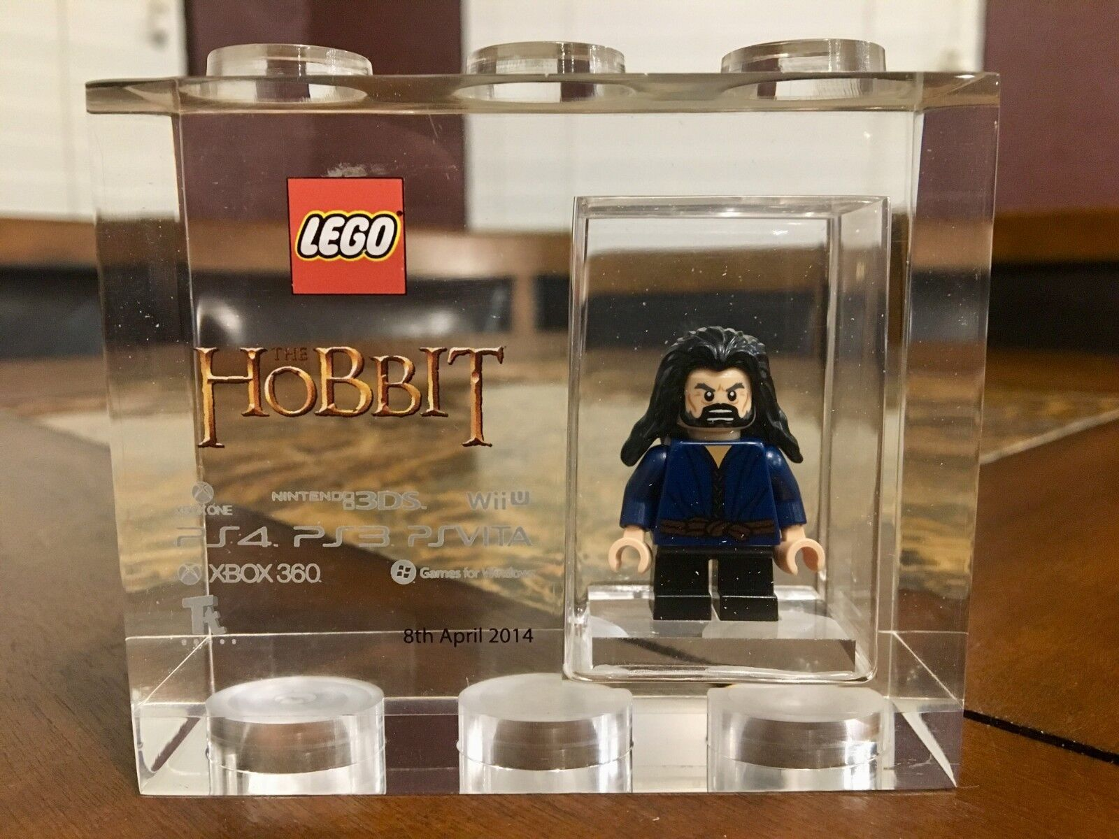 LEGO TT GAMES TROPHY BRICK HOBBIT THORIN SDCC RARER THAN MR Gold VERY RARE