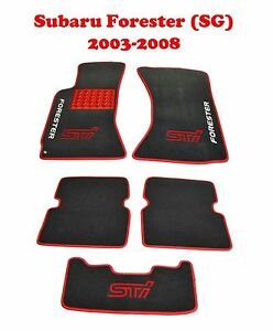 Fit-Subaru-Forester-SG-2003-2008-Fully-Tailored-Carpeted-Car-Floor-Mats-STI