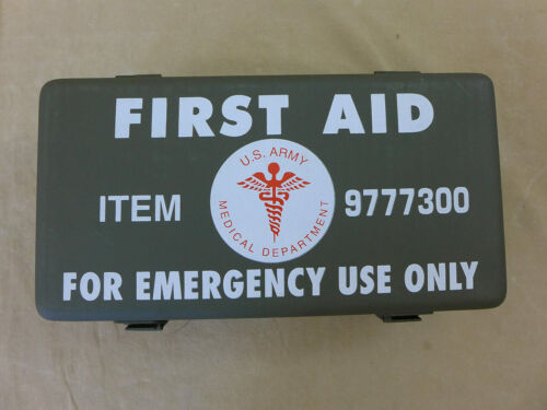 US ARMY First Aid Kit Box Emergency Verbandkasten leer Willys Jeep MB Ford GPW