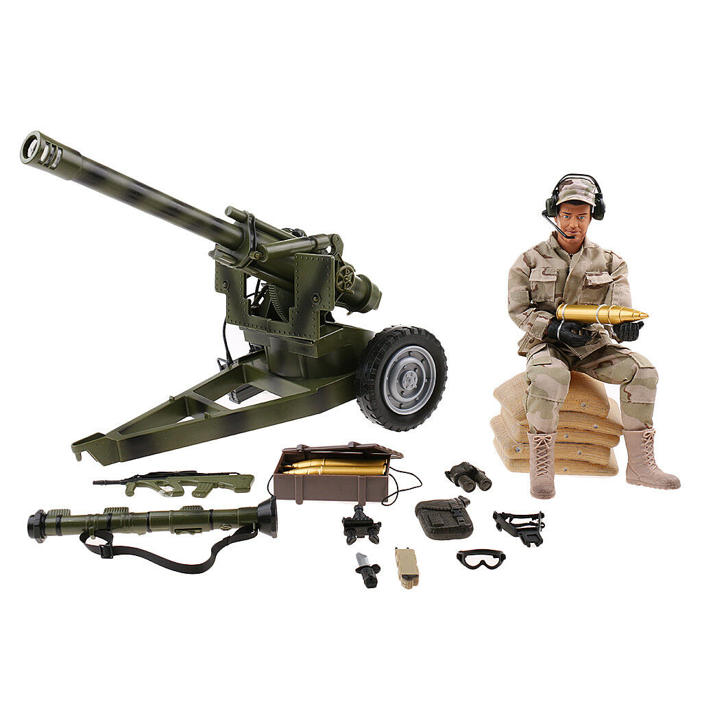 1/6 Army Soldier Action Figure 12'' Cannon Military Combat Soldier Suit Toy