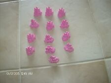 13 PINK DISNEY PRINCESS MONOPOLY JUNIOR GAME CASTLES CAKE TOPPERS CRAFTS PARTS