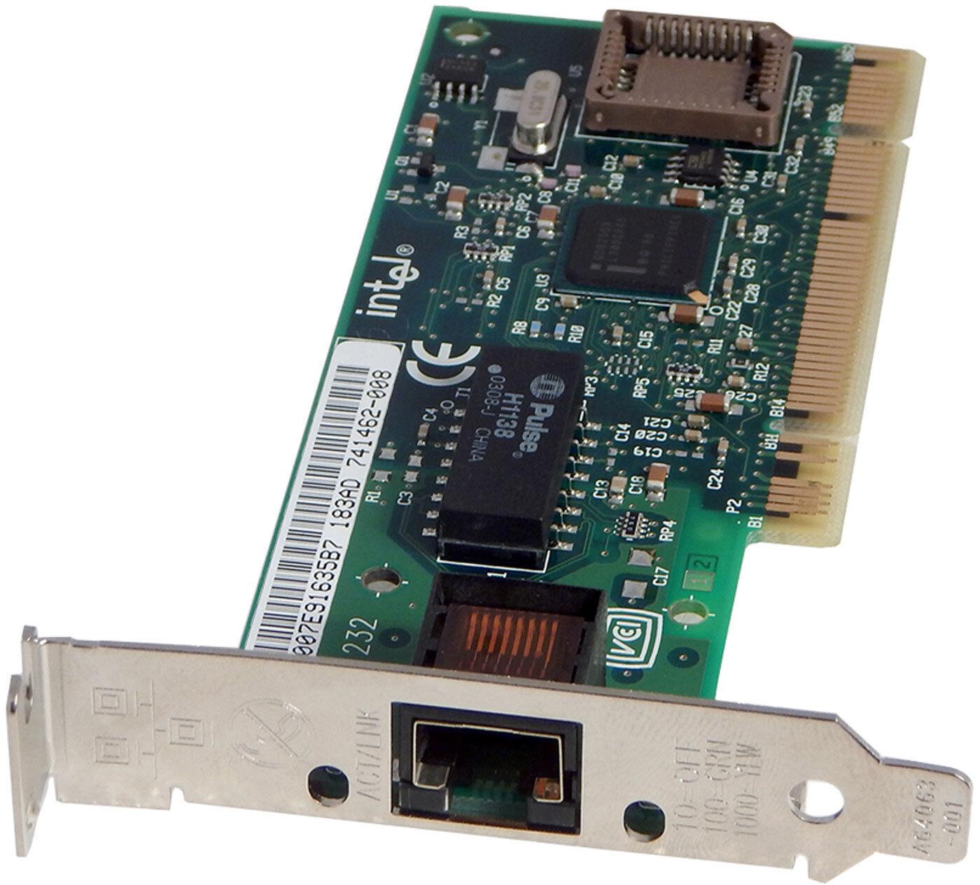 Intel Pro100+ LP Network PCI Adapter NEW 741462-008 Low Profile Bracket