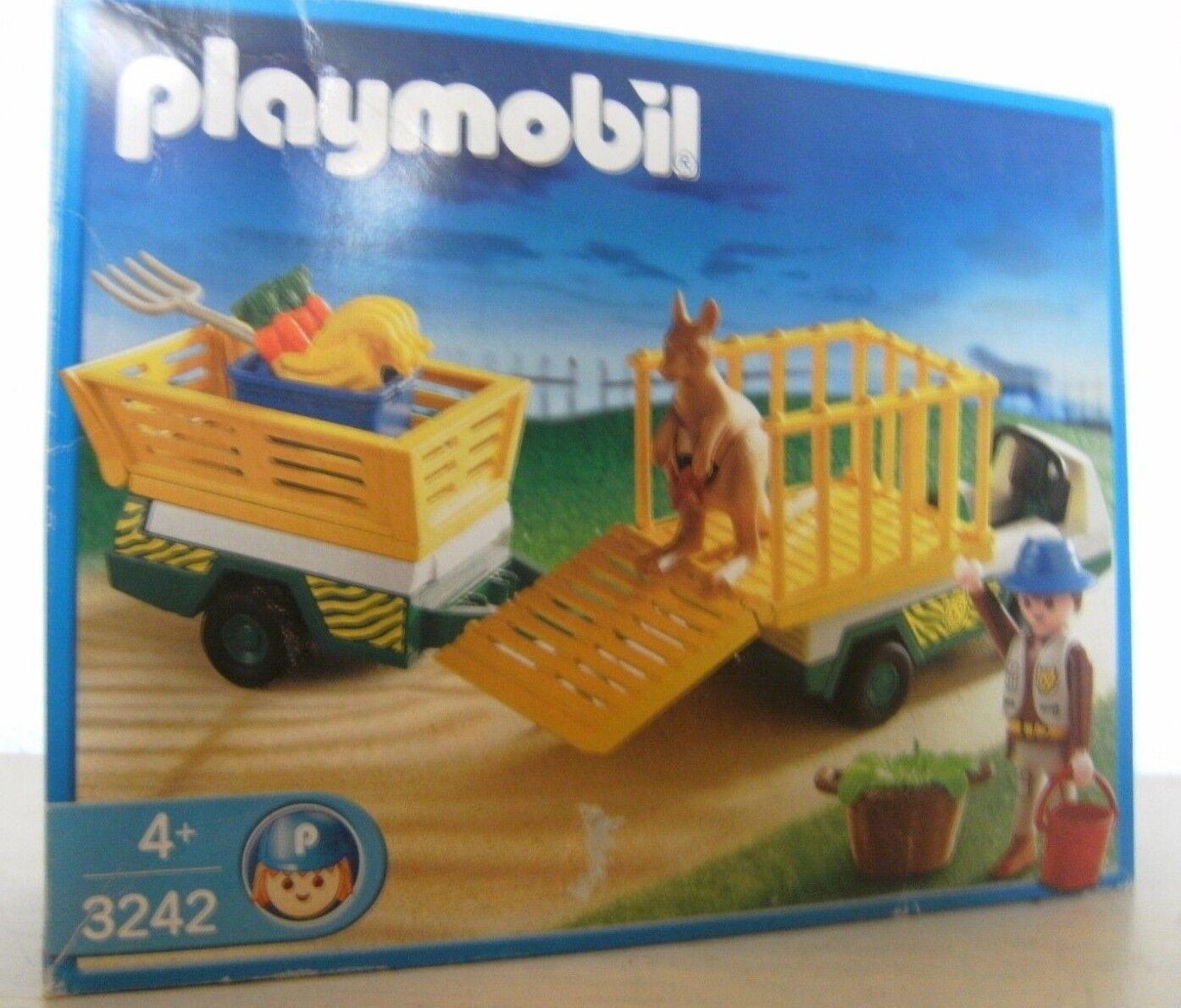 Playmobil Tierpfleger Transportfahrzeug 3242 von 2003 Neu & OVP Känguru Zoo