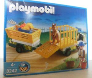 Playmobil animal soignant / véhicule de transport 3242 de 2003 nouveau et Ovp Kangaroo Zoo