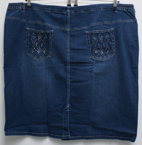 azul con piedras fosforescentes talla 62,66 Nuevo tamaño sobre damas genial elástico jeans rock D