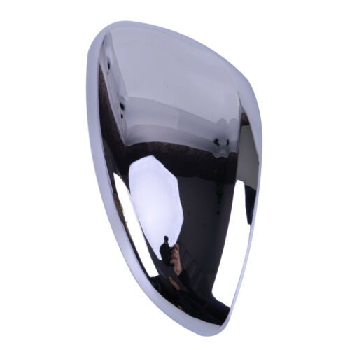 2pcs ABS Chrome Rearview Mirror Cover Caps Trim Fit For Peugeot