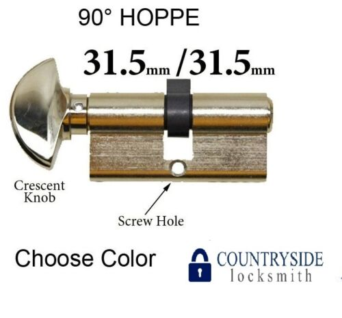 31.5 HOPPE NON LOGO 90 DEGREE KEYED PROFILE CYLINDER LOCK 31.5 SOLID BRASS,