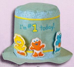 Image Is Loading SESAME STREET FIRST BIRTHDAY FELT HAT PARTY