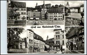 RUDOLSTADT-Thueringen-DDR-Mehrbild-AK-6-s-w-Fotos