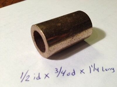 Oilite Bushing Bronze New 3//4 id x 7//8 od x 1 1//4 Brass bearing sleeve bush B31