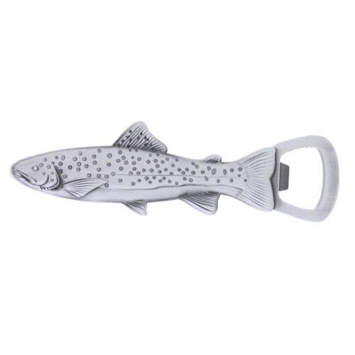 Metal Trout Fish Bottle Opener Refrigerator Magnetic Magnet Fish Shape 13cm