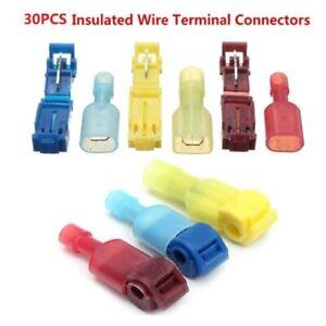 30Pcs-Cosse-isolee-a-Sertir-Electrique-rapide-cables-Connecteur-Sertissage-NYLON