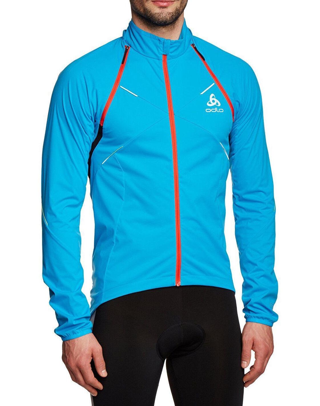ODLO ODLO ODLO GIACCA UOMO [TG S] LOGIC Zip Off 410802 Blu Ciclismo Jogging Nuovo & OVP 813688