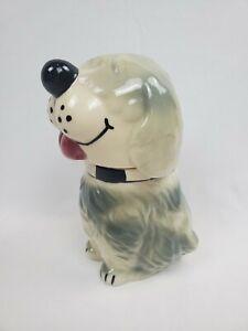 VINTAGE DAN THE DOG CERAMIC Cookie TREAT JAR Alpo Livasnaps USA McCoy Pottery