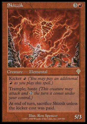 English Invasion MTG Magic 4x Skizzik Light Play