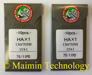 50 ORGAN TITANIUM HOME EMBROIDERY MACHINE NEEDLES 90//14 SHARP 15X1 PD