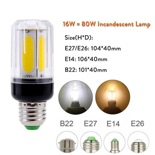 LED Corn Bulb E27 E12 E26 E14 B22 COB White Light 60W 80W Incandescent Lamp RK