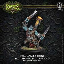 Hordes: Trollblood Fell Caller Hero Trollkin Solo PIP 71019 Privateer Press NEW