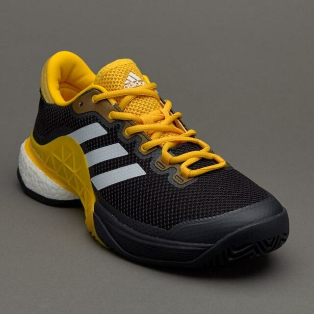 1e0ae4b6d7f0 adidas Barricade 2017 Boost Mens Yellow Black Tennis Court Shoes Trainers  UK 10 for sale online