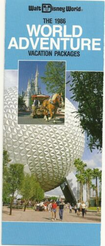 1986 Walt Disney World Adventure Vacation packages Brochure
