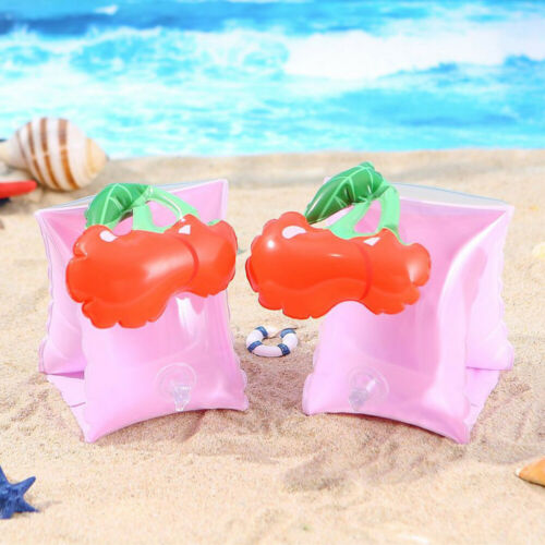 1x Cartoon Inflatable Pool Beach Swimming Aid Arm Bands Ring Float Kids Training