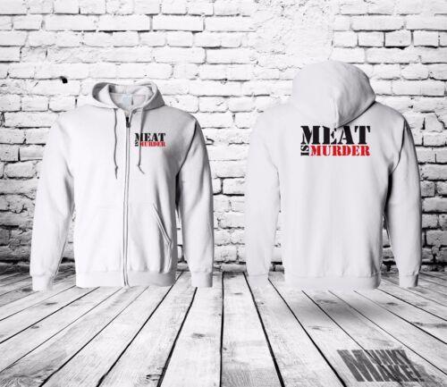 protest MEAT IS MURDER zip hoodie UNISEX animal rights vegan veggie ALF alf