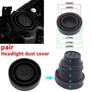 5 Sizes Seal Dust Cap Cover For Car HID Conversion kit Aftermarket LED Headlight
