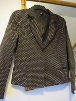 H&M  Blazer/Jacket size 12 Brown & cream spotty