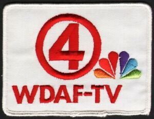 Vintage Uniform Patch Wdaf Tv 4 Rainbow Nbc Peacock Logo Kansas City Unused Nrmt Ebay
