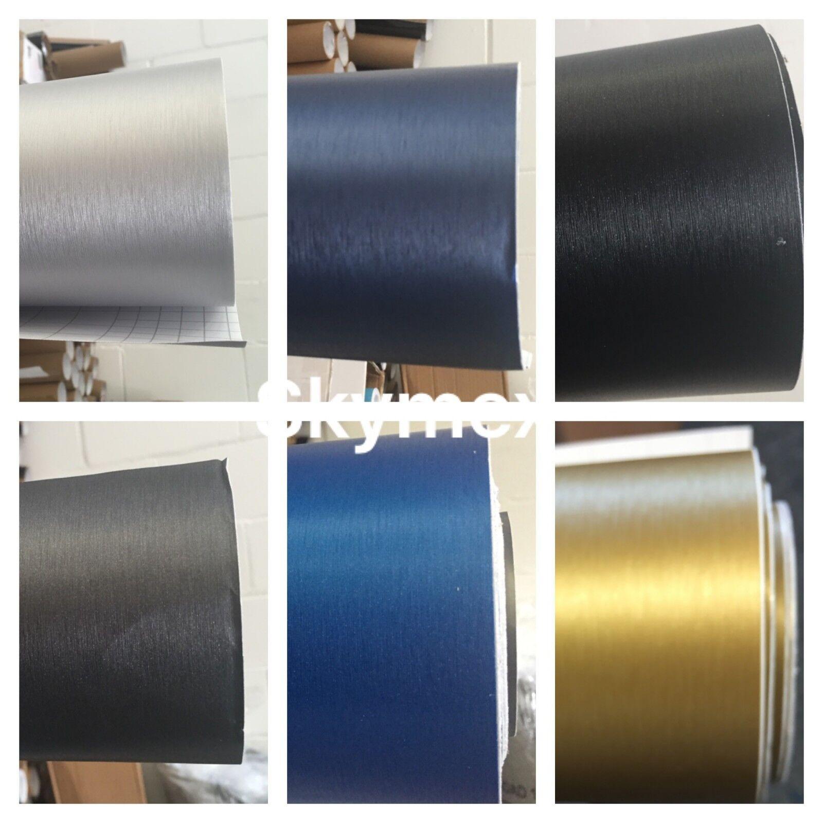 High quality Brushed Metallic Vinyl Wrap Different Colour Größes Air Bubble Free