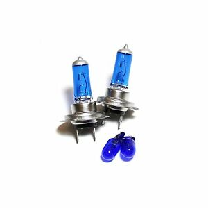55w ICE Blue Xenon HID Low//Slux LED Upgrade Side Light Headlight Bulbs