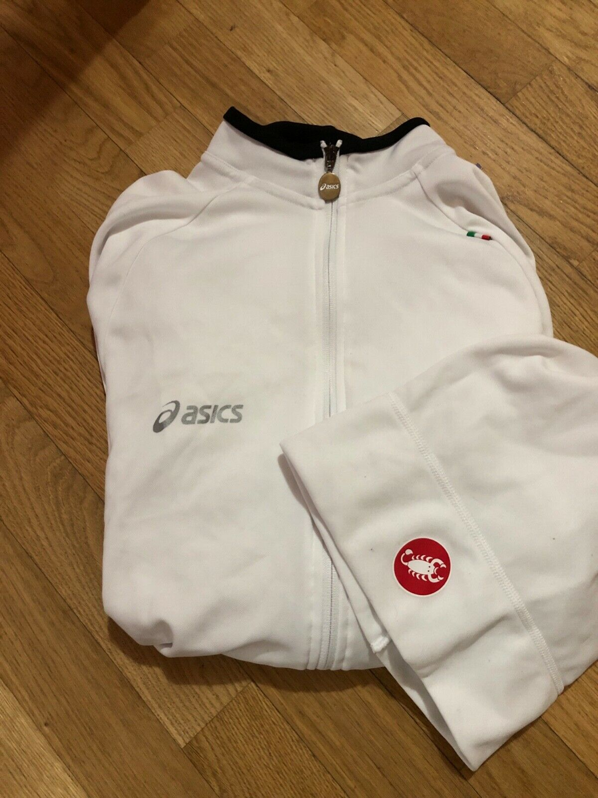 ASICS maglia ciclismo maniche lunghe + cappellino CASTELLI lotto abbinato