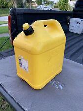 Vintage Plastic Blitz Plastic 5 Gallon Diesel Gas Can Self Venting Fuel Jug