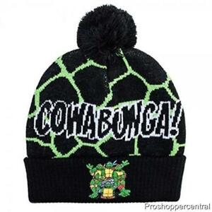 b835d1d8a Details about NEW Teenage Mutant Ninja Turtle Cowabunga Beanie Winter Hat  Size 4-16