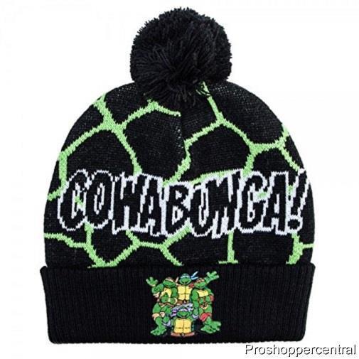 Teenage Mutant Ninja Turtle Cowabunga Beanie Winter Knit Hat One Size Fits   28eaeba7d87