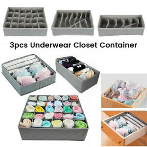 3-x-Foldable-Underwear-Sock-Bra-Tie-Draw-Divider-Organiser-Storage-Container-Box