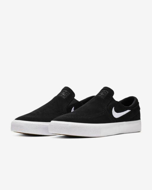 so cheap best online new list Brand New Mens Nike SB Zoom Stefan Janoski Slip RM Skateboard Shoes Black  White