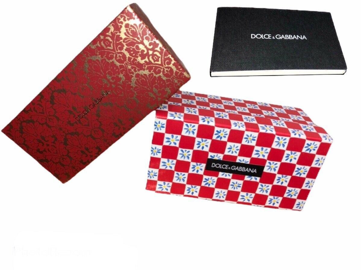 2 Dolce & Gabbana empty sunglasses boxes and D&G little care book Storage Gift