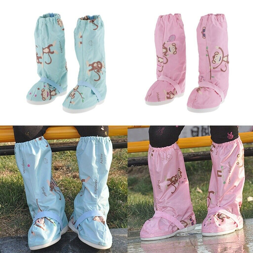 Kids Snow Shoe Covers Foldable Sole Overshoes Boot Cover Shoe Protector