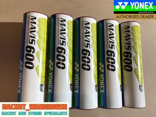 5 TUBES YONEX MAVIS 600 BADMINTON SHUTTLES YELLOW SHUTTLECOCKS RED FAST JAPAN