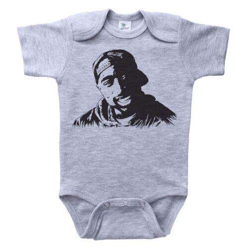 Hip Hop Rap Bodysuit Romper Jumpsuit Newborn Infant Baby TUPAC Get Baffle