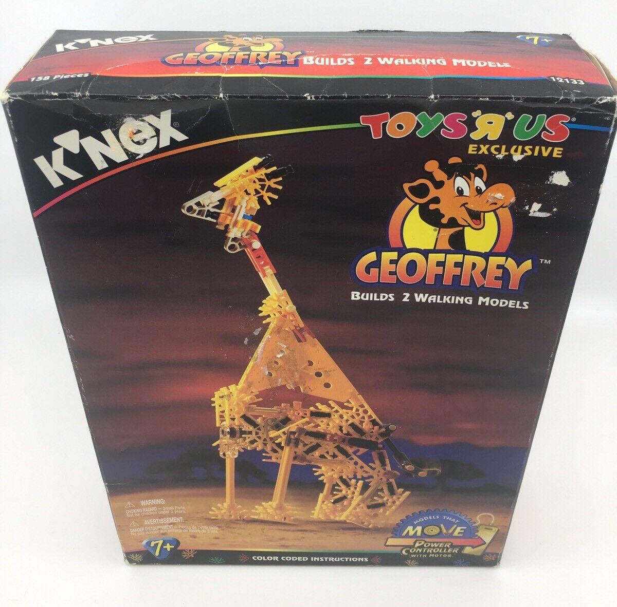 NEW K'NEX Geoffrey 12133 Toys R Us Exclusive W  Power Controller & Yellowsaurus