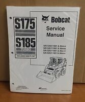 Bobcat S175 S185 Skid Steer Loader Complete Shop Service Manual 4 Pn 6902732