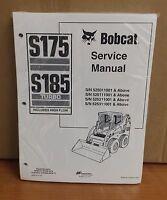 Bobcat S175 S185 Skid Steer Loader Complete Shop Service Manual 4 Pn 6902732