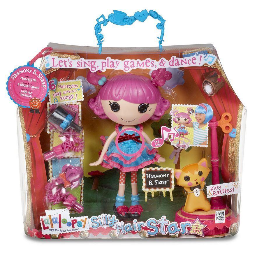 Lalaloopsy Harmonie B.Sharp Silly Haar Star Singende Puppe Geschenkset Nib