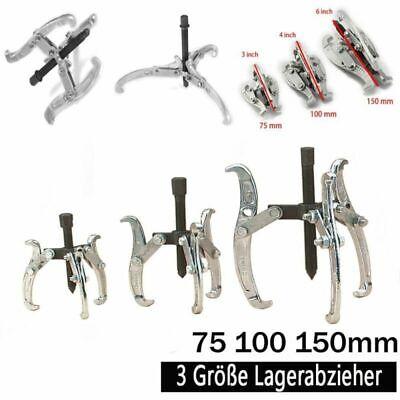 3 tlg Abzieher Satz 75//100//150 mm 3 armig Lager Abzieher Kugellager innen außen