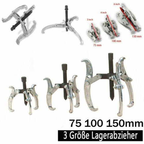 3 tlg Lager Abzieher Satz Abziehersatz Werkzeug 3 armig Kugellager 75//100//150mm