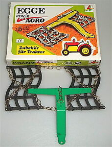 Egge Kovap Kovar Agro Blechspielzeug Zubehör für Traktor OVP LJ6 å *
