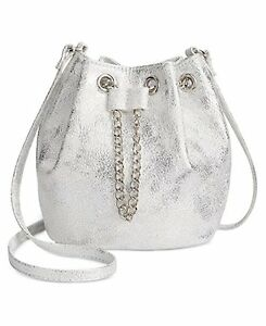 INC-International-Concepts-Pia-Mini-Bucket-Bag-Silver-NEW-WITH-TAGS